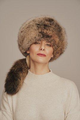 Dámská kožešinová čepice z lišky