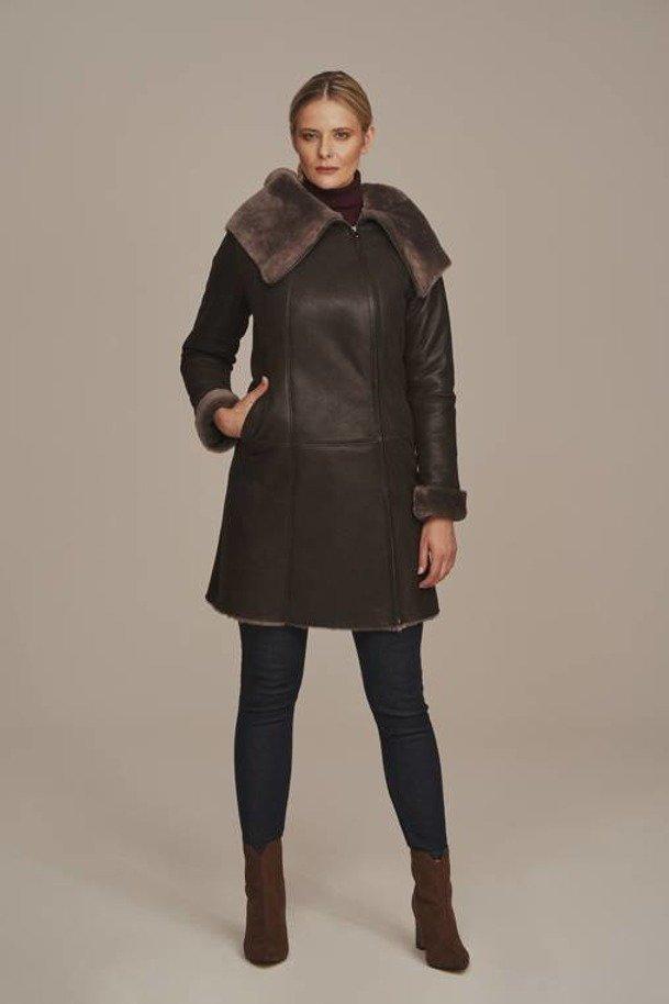 Dámský kožich dubeňák - Kabát z ovčí kůže