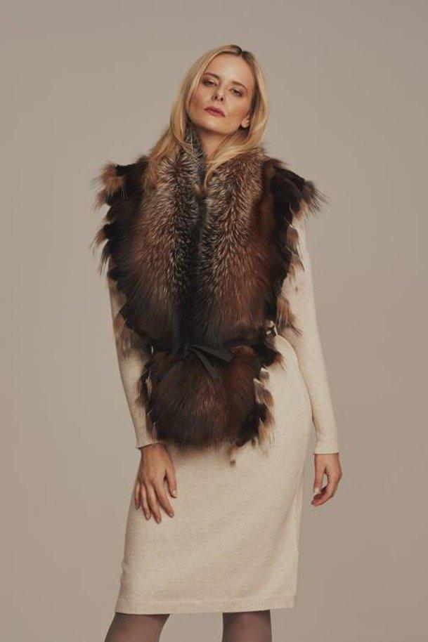 Dámský šálový kožešinový límec - liška