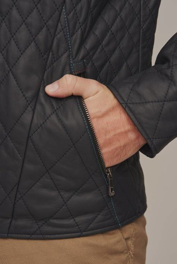 Kožená bunda pánská