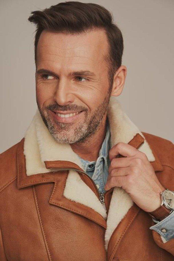 Pánský kožich dubeňák - Zimní zateplený kožený kabát