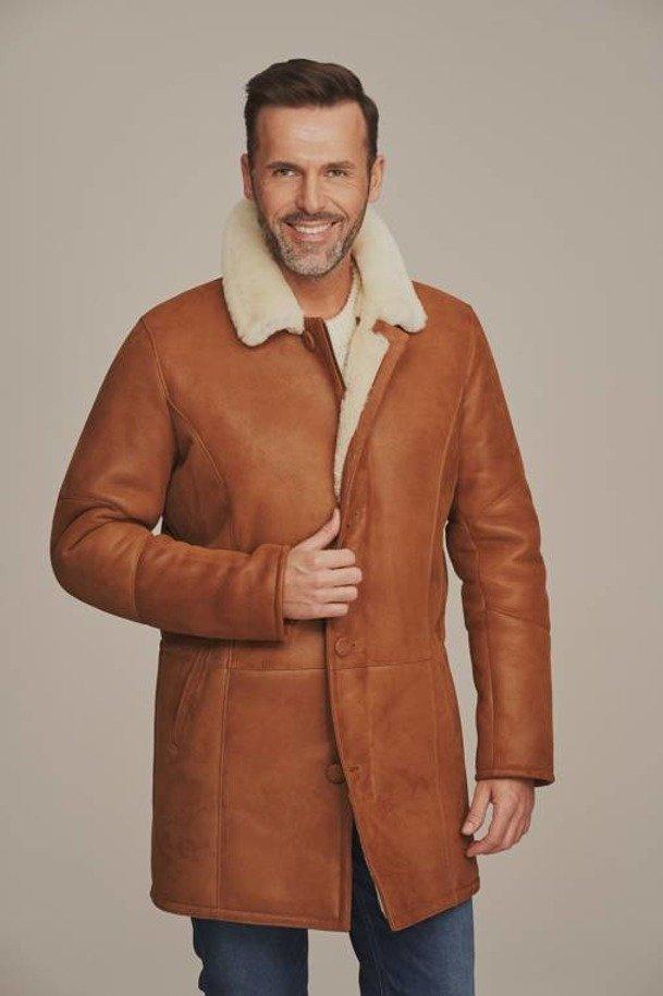 Pánský zimní kabát z ovčí kůže - Kožich dubeňák