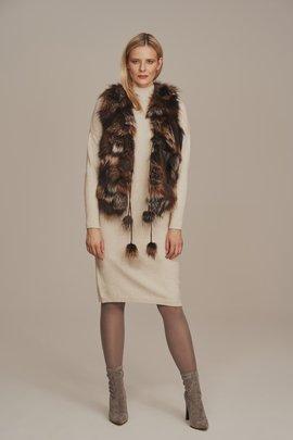 Real fox fur vest
