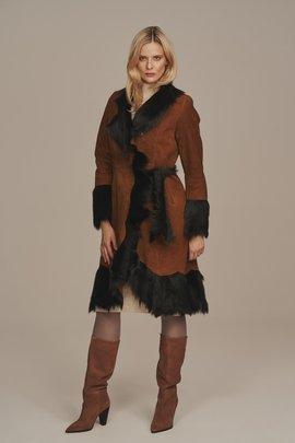 Sheepskin coat womens