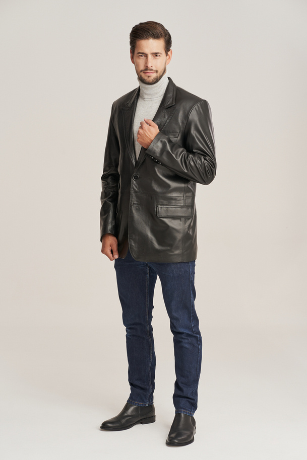 Men's lambskin leather blazer