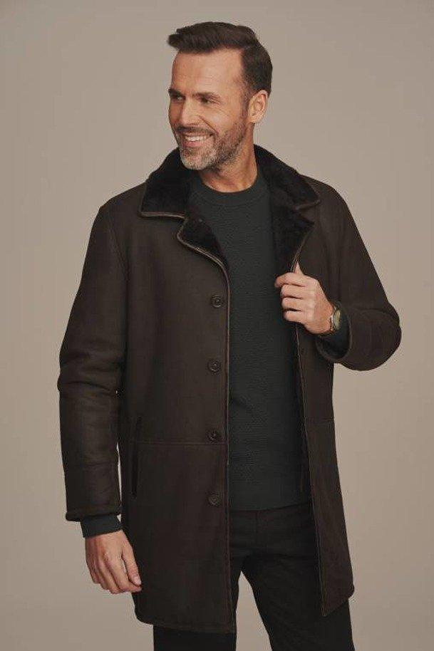 Mens three quarter length Sheepskin coat