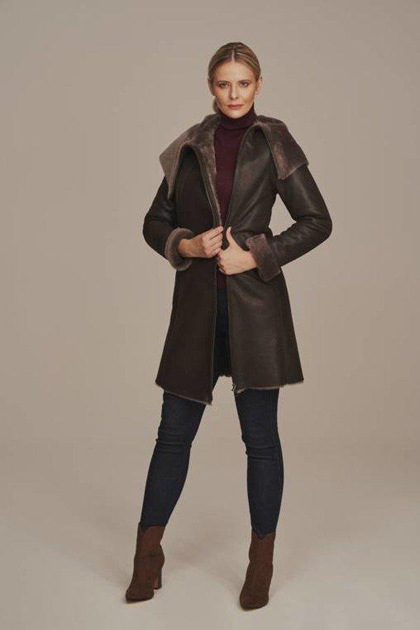 Schaffell Mantel Damen