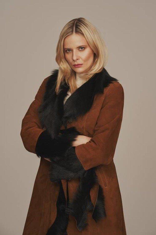 Płaszcz damski zimowy - Kożuch damski naturalny