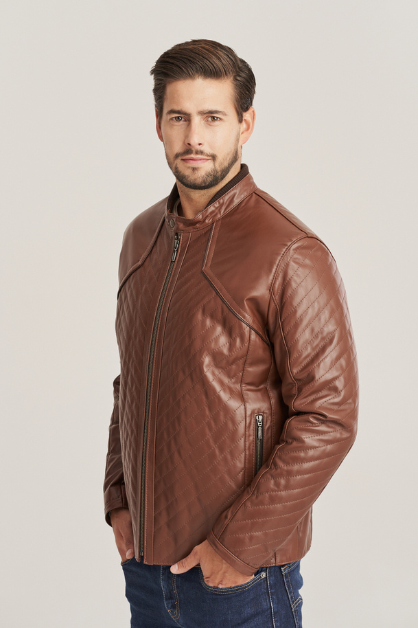 Pánska kožená bunda