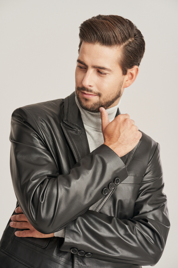 Pánske kožené sako