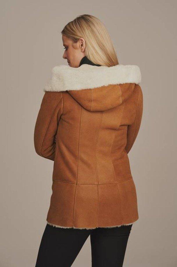 Prírodná dámska zimná bunda
